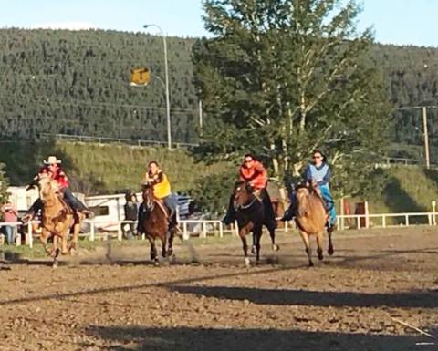Wild Cowgirls Race Williams Lake Stampede